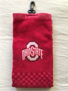 Ohio State Buckeyes embroidered red golf bag towel NEW
