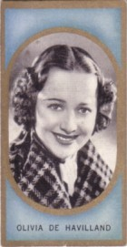 Olivia de Havilland 1938 Carreras Film Favourites tobacco card