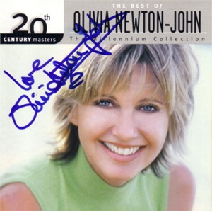Olivia Newton-John autographed & Love inscribed Magic CD booklet