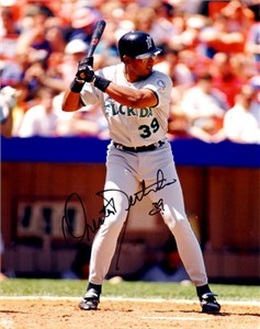 Orestes Destrade autographed Florida Marlins 8x10 photo