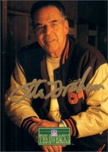 Otto Graham autographed Cleveland Browns 1992 Pro Line card