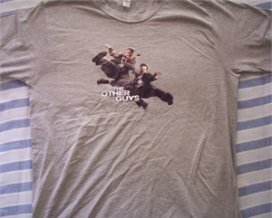 Other Guys movie promo T-shirt (Will Ferrell & Mark Wahlberg)