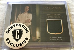 Outlander Season 3 Cryptozoic 2018 Comic-Con exclusive Claire worn wardrobe card CE3