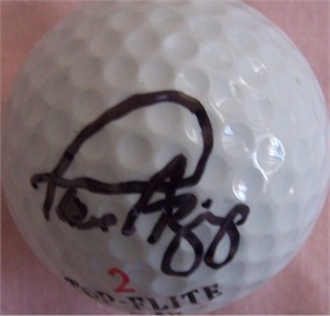 Paul Azinger autographed golf ball