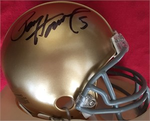 Paul Hornung autographed Notre Dame Fighting Irish mini helmet