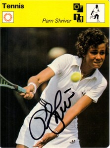 Pam Shriver autographed 1979 Sportscaster Rookie Card