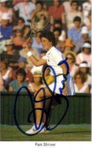 Pam Shriver autographed 1987 Fax Pax tennis card