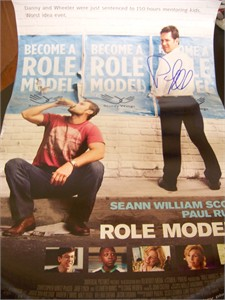 Paul Rudd autographed Role Models mini 11x17 movie poster