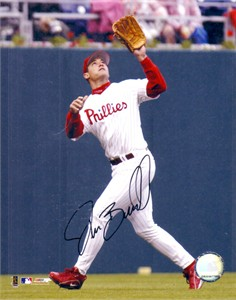 Pat Burrell autographed Philadelphia Phillies 8x10 photo