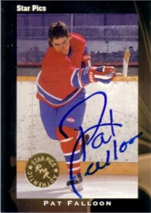 Pat Falloon certified autograph 1991 Star Pics card
