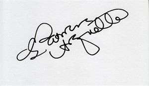 Patricia Arquette autographed index card
