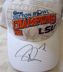 Patrick Peterson autographed LSU Tigers 2011 Cotton Bowl Champions cap or hat