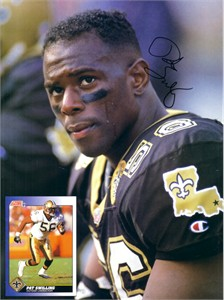 Pat Swilling autographed New Orleans Saints Beckett Football magazine back cover