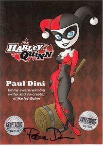 Paul Dini autographed Harley Quinn 2018 San Diego Comic-Con 5x7 signing ticket