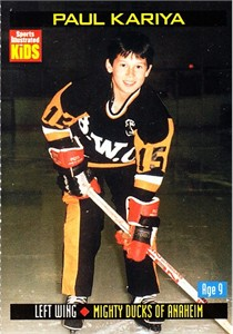 Paul Kariya 2000 Sports Illustrated for Kids card #880