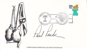 Paul Pender autographed Boxing Greats cachet 1993 Joe Louis First Day Cover