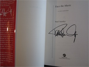 Paul Stanley (KISS) autographed Face the Music hardcover book