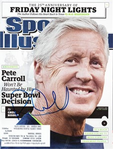 Pete Carroll autographed Seattle Seahawks 2015 Sports Illustrated