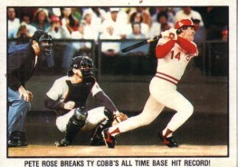 Pete Rose Cincinnati Reds 1986 Topps wax box card
