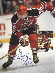 Peter Stastny autographed New Jersey Devils Beckett Hockey back cover