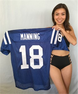 Peyton Manning Indianapolis Colts authentic Reebok stitched blue jersey NEW