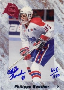 Philippe Boucher certified autograph 1991 Classic card