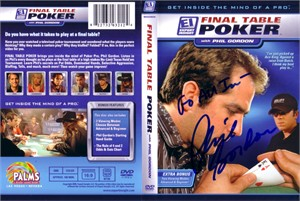 Phil Gordon autographed Final Table Poker DVD insert