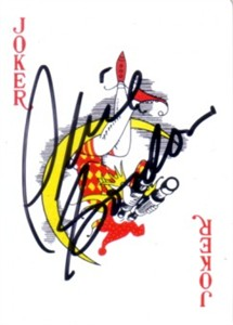 Phil Gordon autographed Joker playing card