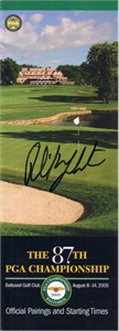 Phil Mickelson autographed 2005 PGA Championship pairings guide