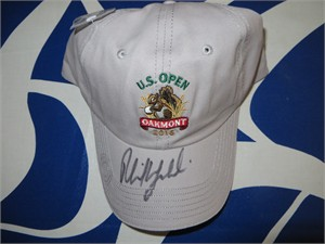 Phil Mickelson autographed 2016 U.S. Open embroidered golf cap or hat