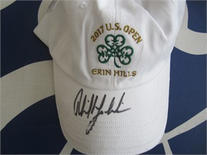 Phil Mickelson autographed 2017 U.S. Open golf cap or hat