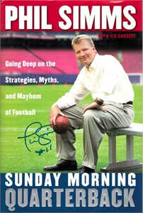 Phil Simms autographed Sunday Morning Quarterback hardcover book