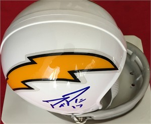 Philip Rivers autographed San Diego Chargers throwback mini helmet