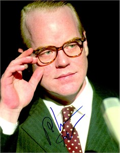 Philip Seymour Hoffman autographed Capote 8x10 photo