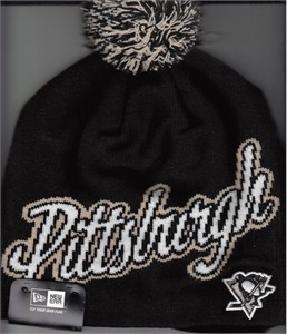 Pittsburgh Penguins New Era knit cap or hat with pom pom BRAND NEW WITH TAGS