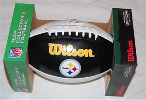 Pittsburgh Steelers white panel Wilson full size logo football