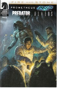 Prometheus Fire and Stone 2014 Comic-Con Dark Horse mini preview promo comic book