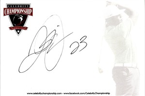 Quentin Jammer autographed 4x6 signature card