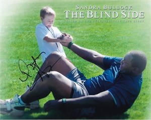 Quinton Aaron autographed The Blind Side 8x10 photo
