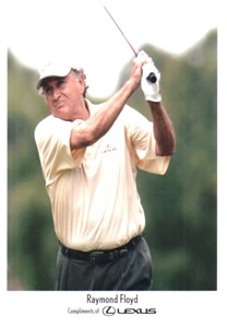 Raymond Floyd Lexus promotional 5x7 golf photo
