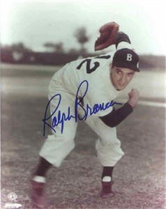 Ralph Branca autographed Brooklyn Dodgers 8x10 photo