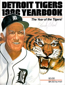 Randy O'Neal autographed Detroit Tigers 1986 Yearbook