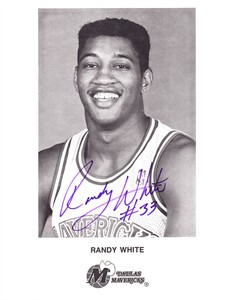 Randy White autographed Dallas Mavericks 8x10 photo