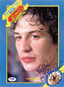 Ray (Boom Boom) Mancini autographed Ring magazine full page photo (PSA/DNA)