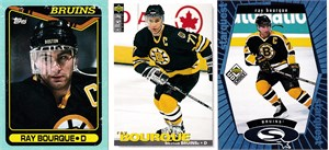 Ray Bourque Boston Bruins 1990-91 Topps box bottom card