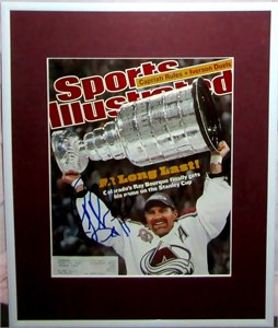 Ray Bourque autographed Colorado Avalanche 2001 Stanley Cup Sports Illustrated cover matted & framed