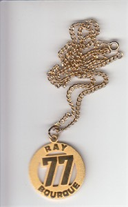 Ray Bourque number 77 gold necklace