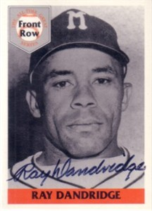 Ray Dandridge autographed Front Row All-Time Great Signature Series card set