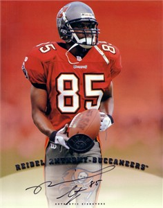Reidel Anthony certified autograph Tampa Bay Buccaneers 1997 8x10 photo card