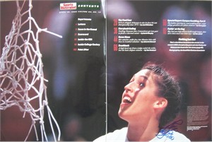 Rebecca Lobo autographed UConn Women's Basketball 1995 National Champions Sports Illustrated full page photo spread